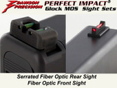 Dawson Precision Glock MOS Fixed Non Co-Witness Sight Set - Fiber Optic Rear & Fiber Optic Front
