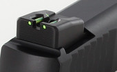 Dawson Precision S&W M&P 22 Compact Fixed Carry Fiber Optic Rear Sights