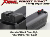 Dawson Precision S&W M&P .22 Compact Fixed Carry Sight Set - Black Rear & Fiber Optic Front