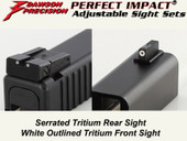 Dawson Precision Glock* Adjustable Sight Set - Tritium Rear & Tritium Front