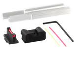 Dawson Precision S&W M&P Core Fixed Non Co-Witness Carry Sight Set - Black Rear & Fiber Optic Front