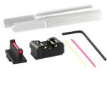 Dawson Precision S&W M&P Core Fixed Non Co-Witness Carry Sight Set - Fiber Optic Rear & Fiber Optic Front