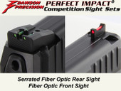 Dawson Precision HK VP9 Fixed Competition Sight Set - Fiber Optic Rear & Fiber Optic Front
