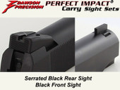 *Dawson Precision GSG 1911 .22 Fixed Carry Sight Set - Black Rear & Black Front