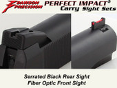 *Dawson Precision GSG 1911 .22 Fixed Carry Sight Set - Black Rear & Fiber Optic Front