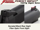 *Dawson Precision GSG 1911 .22 Fixed Carry Sight Set - Black Rear & Fiber Optic Front