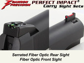 *Dawson Precision GSG 1911 .22 Fixed Carry Sight Set - Fiber Optic Rear & Fiber Optic Front