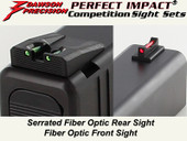 Dawson Precision Glock 17L/24 Fixed Competition Sight Set - Fiber Optic Rear & Fiber Optic Front
