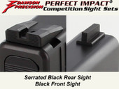 Dawson Precision Glock 17L/24 Fixed Competition Sight Set - Black Rear & Black Front