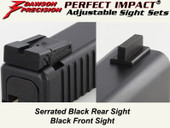 Dawson Precision Glock 17L/24 Adjustable Sight Set - Black Rear & Black Front