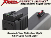 Dawson Precision Glock 17L/24 Adjustable Sight Set - Fiber Optic Rear & Fiber Optic Front