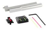 Dawson Precision New Dovetail Kahr CW380 Fixed Carry Sight Set - Fiber Optic Rear & Fiber Optic Front