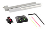 Dawson Precision New Dovetail Kahr CW/CM Fixed Carry Sight Set - Fiber Optic Rear & Fiber Optic Front