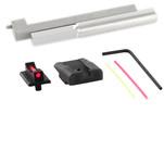 Dawson Precision New Dovetail Kahr CW/CM Fixed Carry Sight Set - Black Rear & Fiber Optic Front