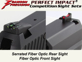 Dawson Precision HK USP Fixed Competition Sight Set - Fiber Optic Rear & Fiber Optic Front