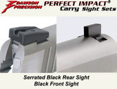 Dawson Precision Taurus 1911 Fixed Carry Sight Set - Black Rear & Black Front
