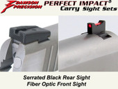 Dawson Precision Taurus 1911 Fixed Carry Sight Set - Black Rear & Fiber Optic Front