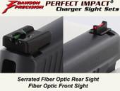 Dawson Precision Sig Dark Elite Charger Fixed Sight Set - Fiber Optic Rear & Fiber Optic Front