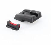 Dawson Precision CZ SP-01 Carry Fixed Sight Set - Black Rear & Fiber Optic Front