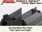 Dawson Precision HK P2000 Fixed Carry Sight Set - Black Rear & Fiber Optic Front