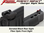 Dawson Precision Walther PPQ M2 Fixed Charger Sight Set - Black Rear & Fiber Optic Front