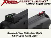 Dawson Precision CZ 75 D Compact Carry Fixed Sight Set - Fiber Optic Rear & Fiber Optic Front