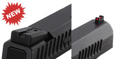 """NEW"" Dawson Precision CZ P10 C Carry Fixed Sight Set - Black Rear & Fiber Optic Front"