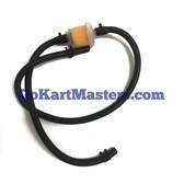 TrailMaster Go Kart Fuel Hose & Filter Kit (Black)