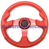 TrailMaster 150 XRX Sport Steering Wheel - Red