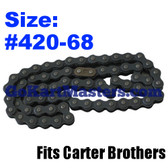 Go Kart Chain - Carter Brothers - Fits 2336 - 68 Links