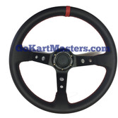 TrailMaster 150 XRX DEEP DISH Sport Steering Wheel Black/Red Stitch