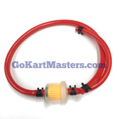 TrailMaster Go Kart Fuel Hose & Filter Kit (RED)