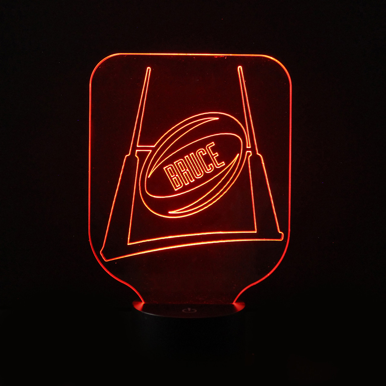 Childrens colour changing lights - Rugby Ball Children S Room Personalised Colour Changing Led Night Light