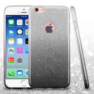 Full Glitter Hybrid Protective Case for iPhone 6 / 6S - Gradient Black