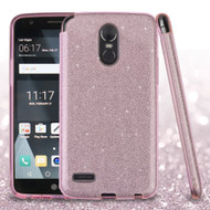 Full Glitter Hybrid Protective Case for LG Stylo 3 / Stylo 3 Plus - Pink
