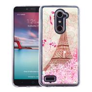 Quicksand Glitter Transparent Case for ZTE Zmax Pro - Eiffel Tower