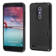 Card To Go Hybrid Case for ZTE Zmax Pro - Black