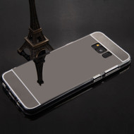 Premium Electroplated Candy Skin Cover for Samsung Galaxy S8 Plus - Jet Black