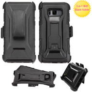 Tough Armor Hybrid Kickstand Case with Holster for Samsung Galaxy S8 - Black