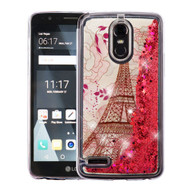 Quicksand Glitter Transparent Case for LG Stylo 3 / Stylo 3 Plus - Eiffel Tower