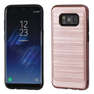 Brushed Multi-Layer Hybrid Armor Case for Samsung Galaxy S8 Plus - Rose Gold