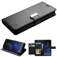 Essential Leather Wallet Stand Case for Samsung Galaxy S8 Plus - Black