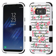 Military Grade Certified TUFF Image Hybrid Armor Case for Samsung Galaxy S8 Plus - Pink Fresh Roses