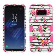 Military Grade Certified TUFF Image Hybrid Armor Case for Samsung Galaxy S8 - Pink Fresh Roses