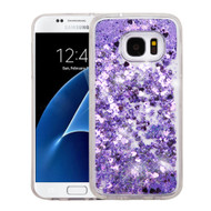 Quicksand Glitter Transparent Case for Samsung Galaxy S7 - Purple