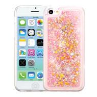 Quicksand Glitter Transparent Case for iPhone 5C - Pink