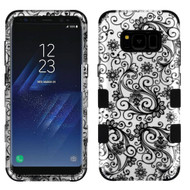 Military Grade Certified TUFF Image Hybrid Armor Case for Samsung Galaxy S8 Plus - Leaf Clover Black