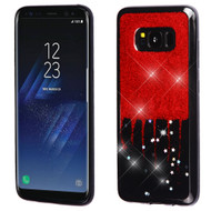 Luxury Bling Glitter Krystal Gel Case for Samsung Galaxy S8 - Dripping Red