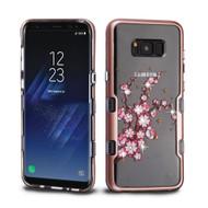 TUFF Panoview Transparent Hybrid Diamond Case for Samsung Galaxy S8 Plus - Spring Flowers