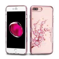 TUFF Panoview Transparent Hybrid Diamond Case for iPhone 8 Plus / 7 Plus - Spring Flowers